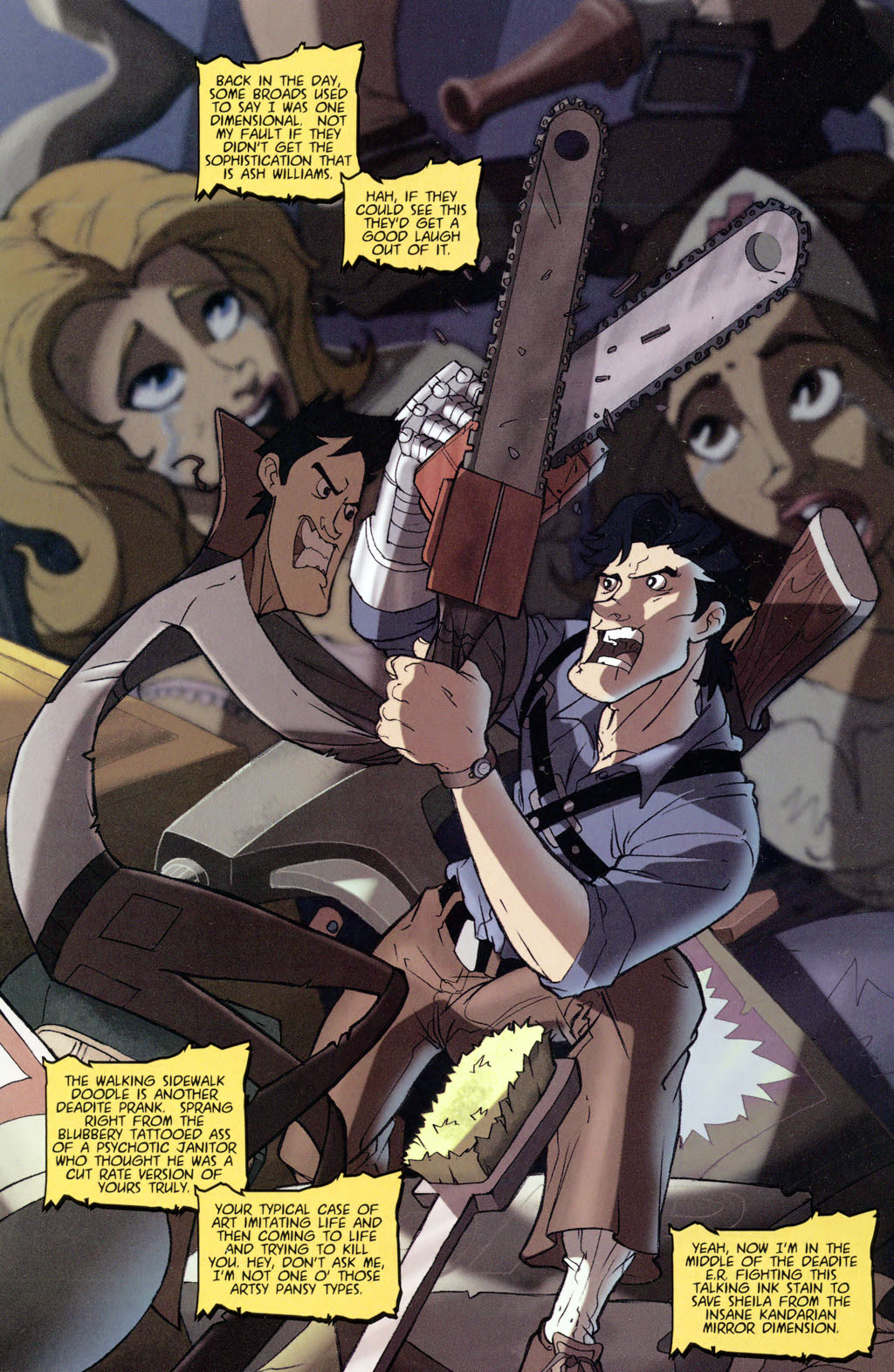 Read online Army of Darkness vs. Re-Animator comic -  Issue #4 - 5