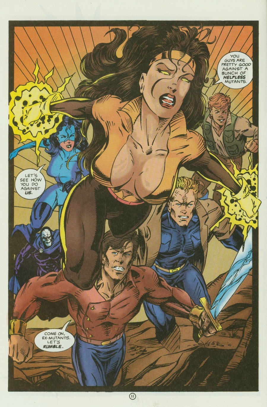 Read online Ex-Mutants comic -  Issue #13 - 14