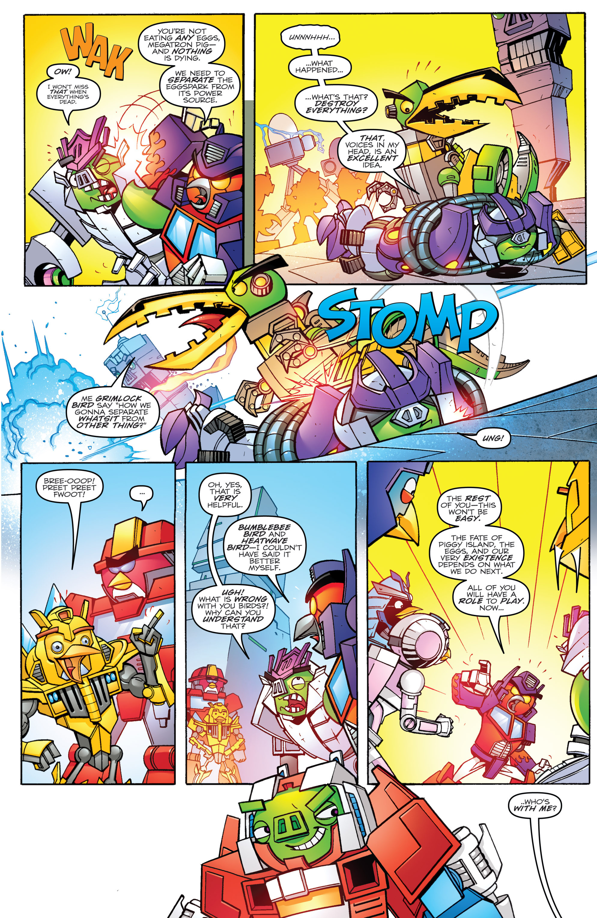 Read online Angry Birds Transformers comic -  Issue #4 - 5
