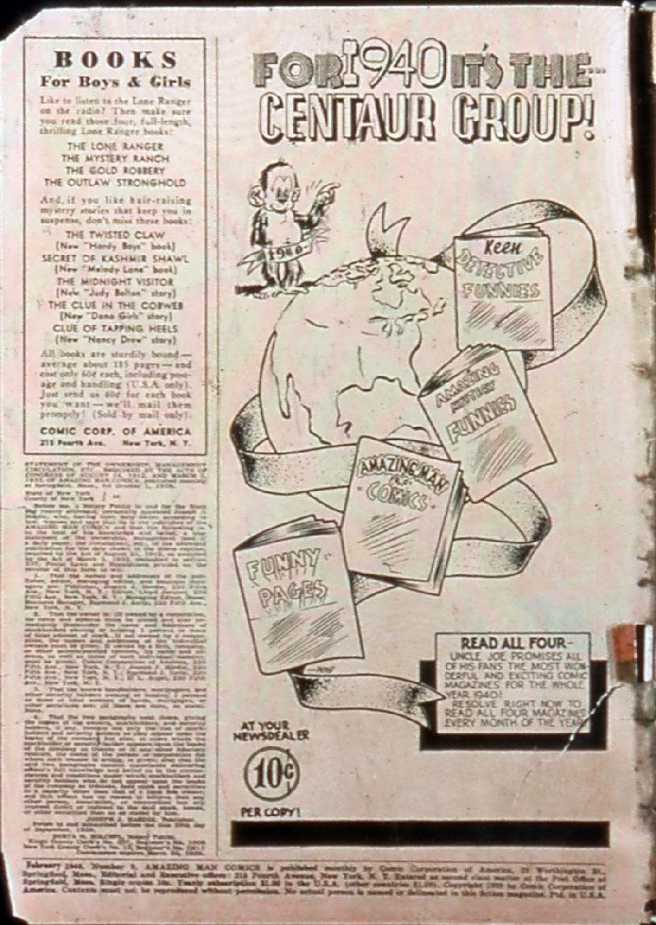 Read online Amazing Man Comics comic -  Issue #9 - 3