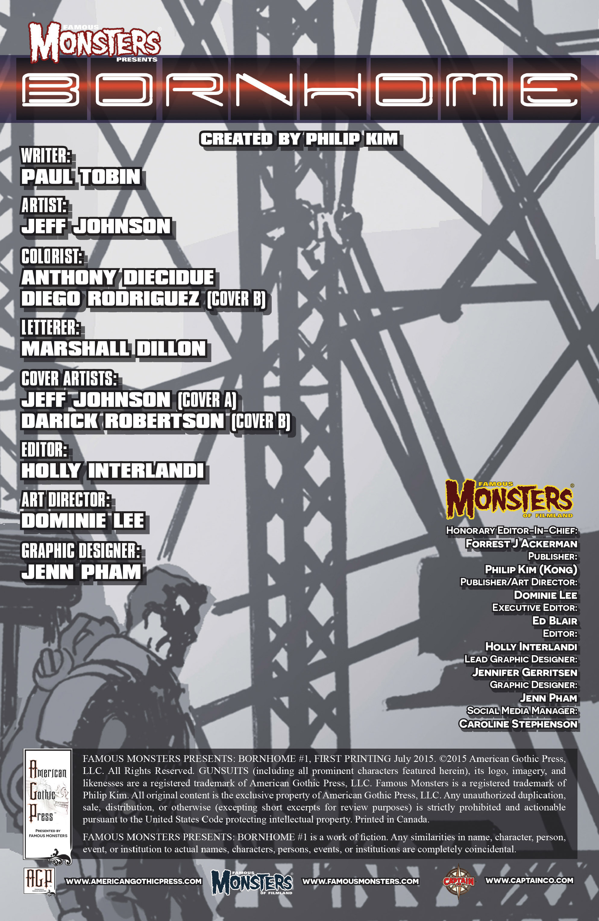Read online Famous Monsters Presents: Bornhome comic -  Issue #1 - 3