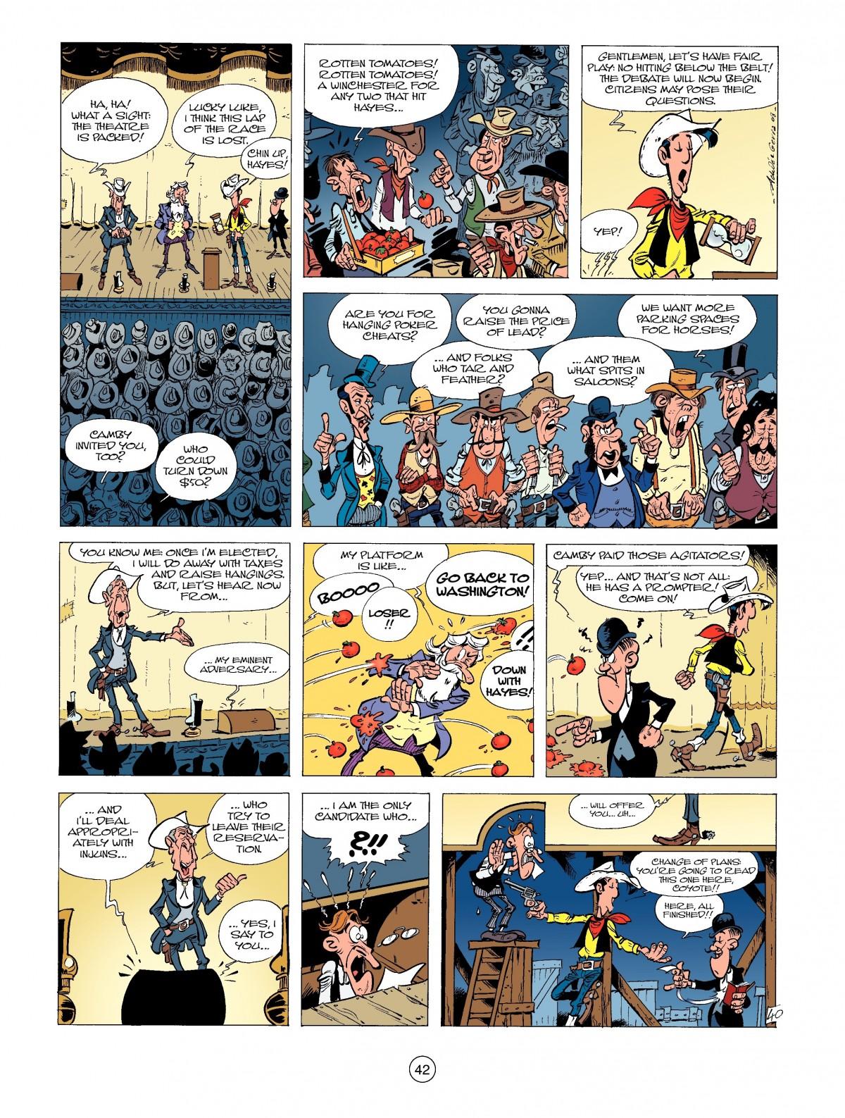 Read online A Lucky Luke Adventure comic -  Issue #39 - 42