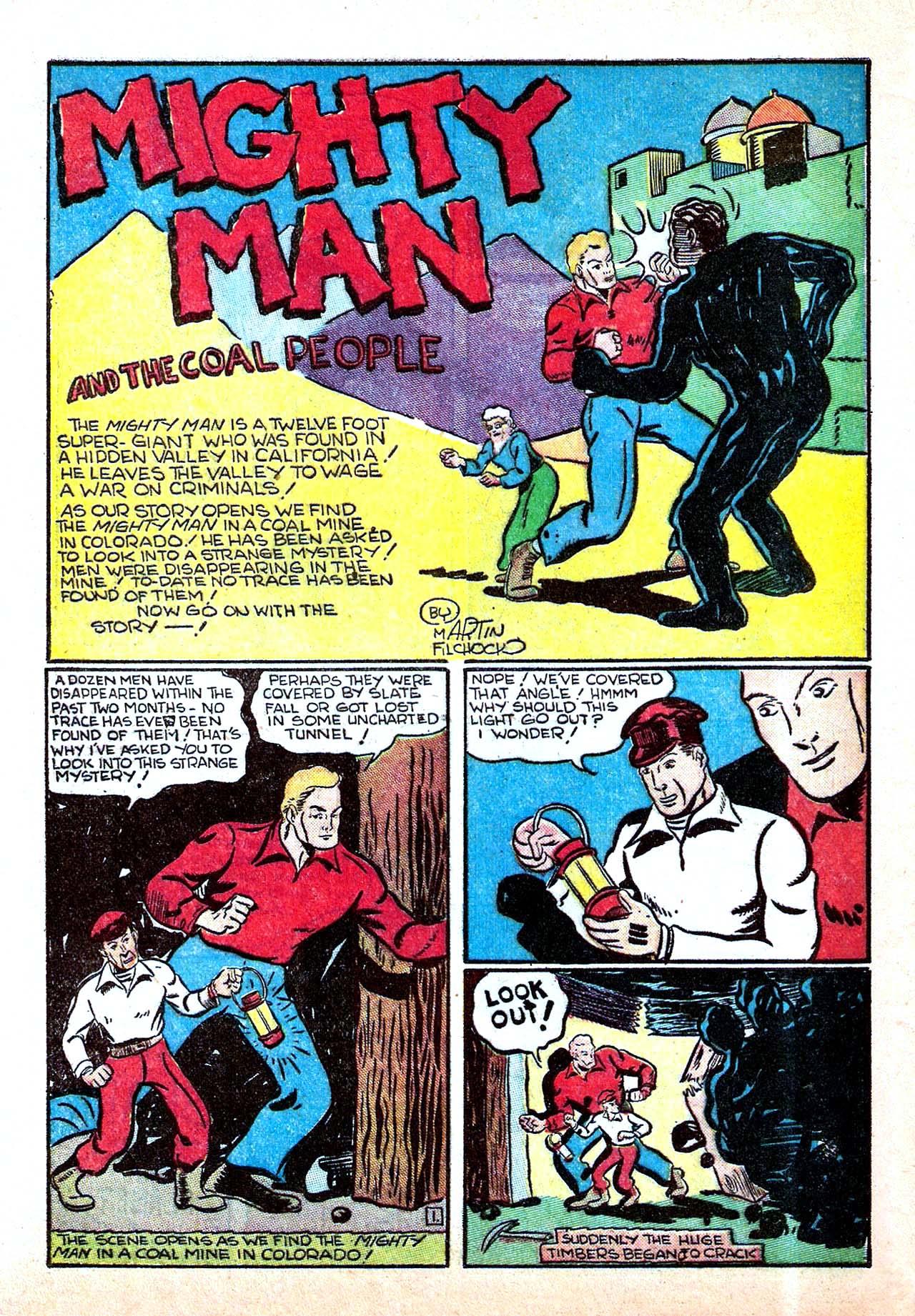 Read online Amazing Man Comics comic -  Issue #11 - 52