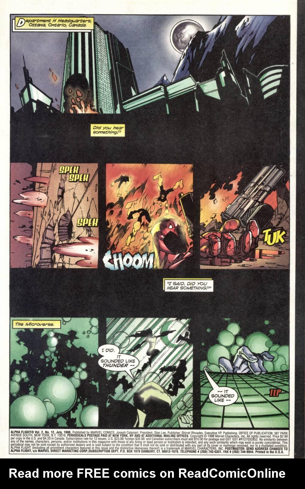 Read online Alpha Flight (1997) comic -  Issue #12 - 3
