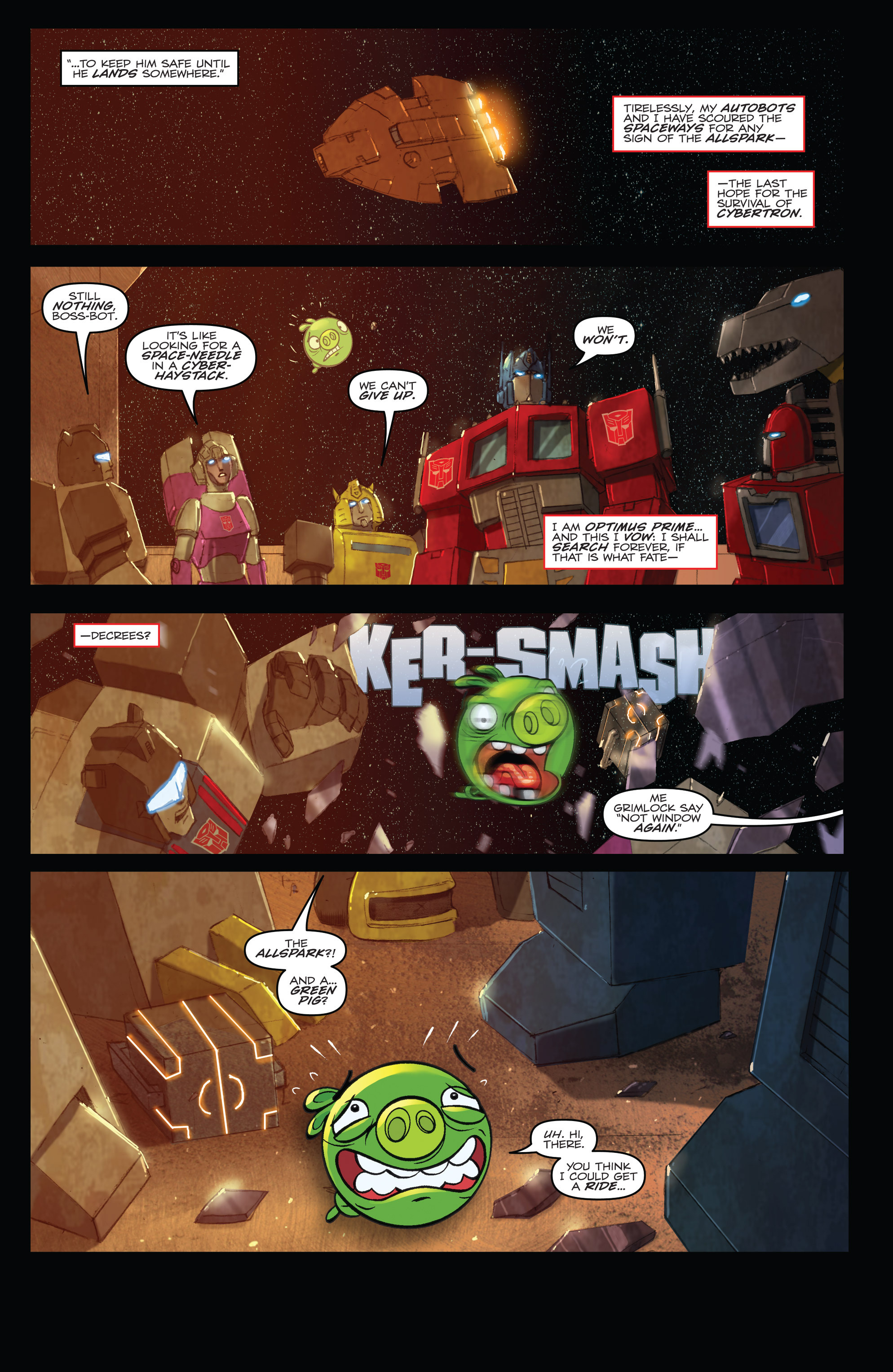 Read online Angry Birds Transformers comic -  Issue #4 - 20