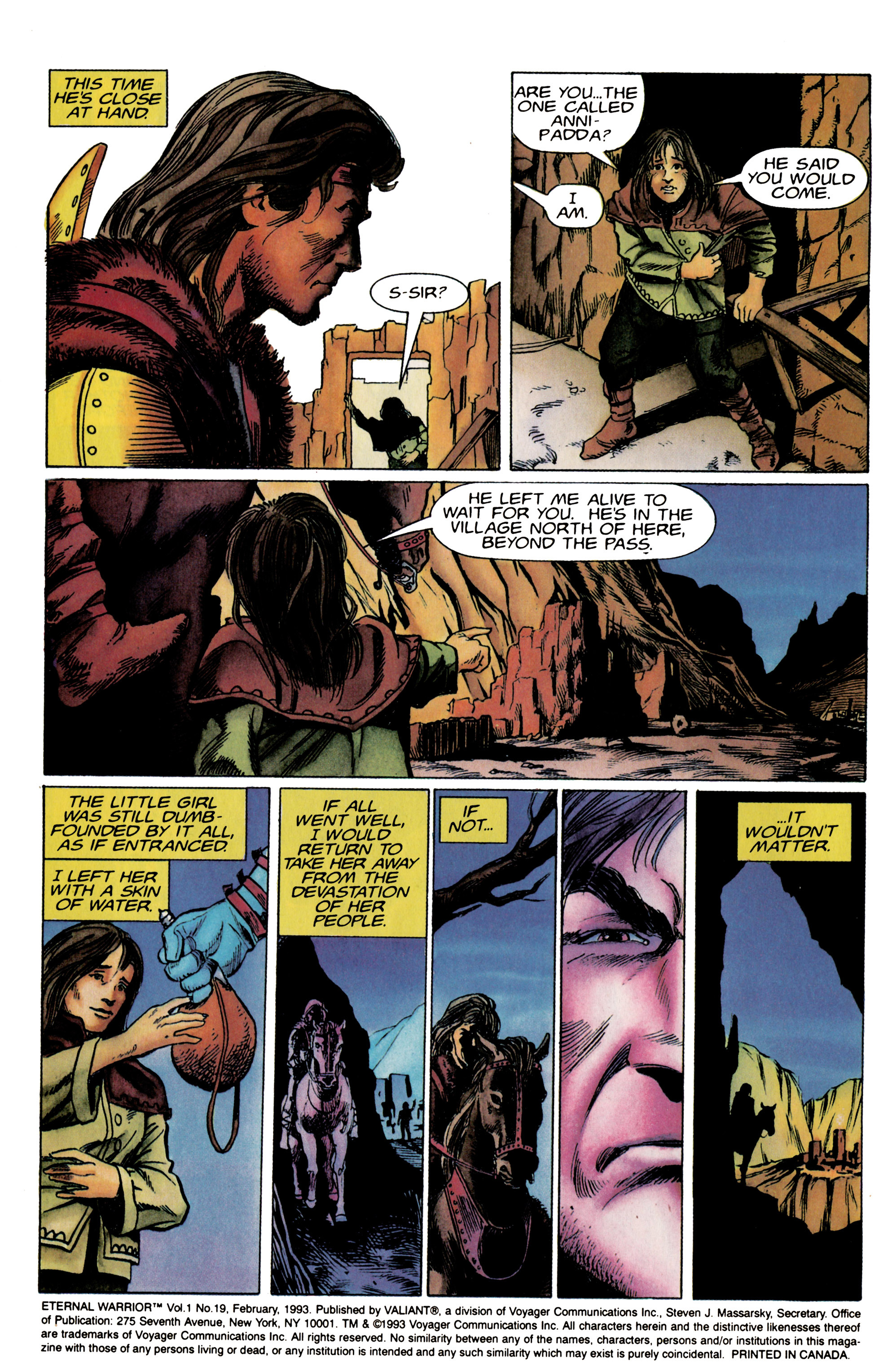 Read online Eternal Warrior (1992) comic -  Issue #19 - 3