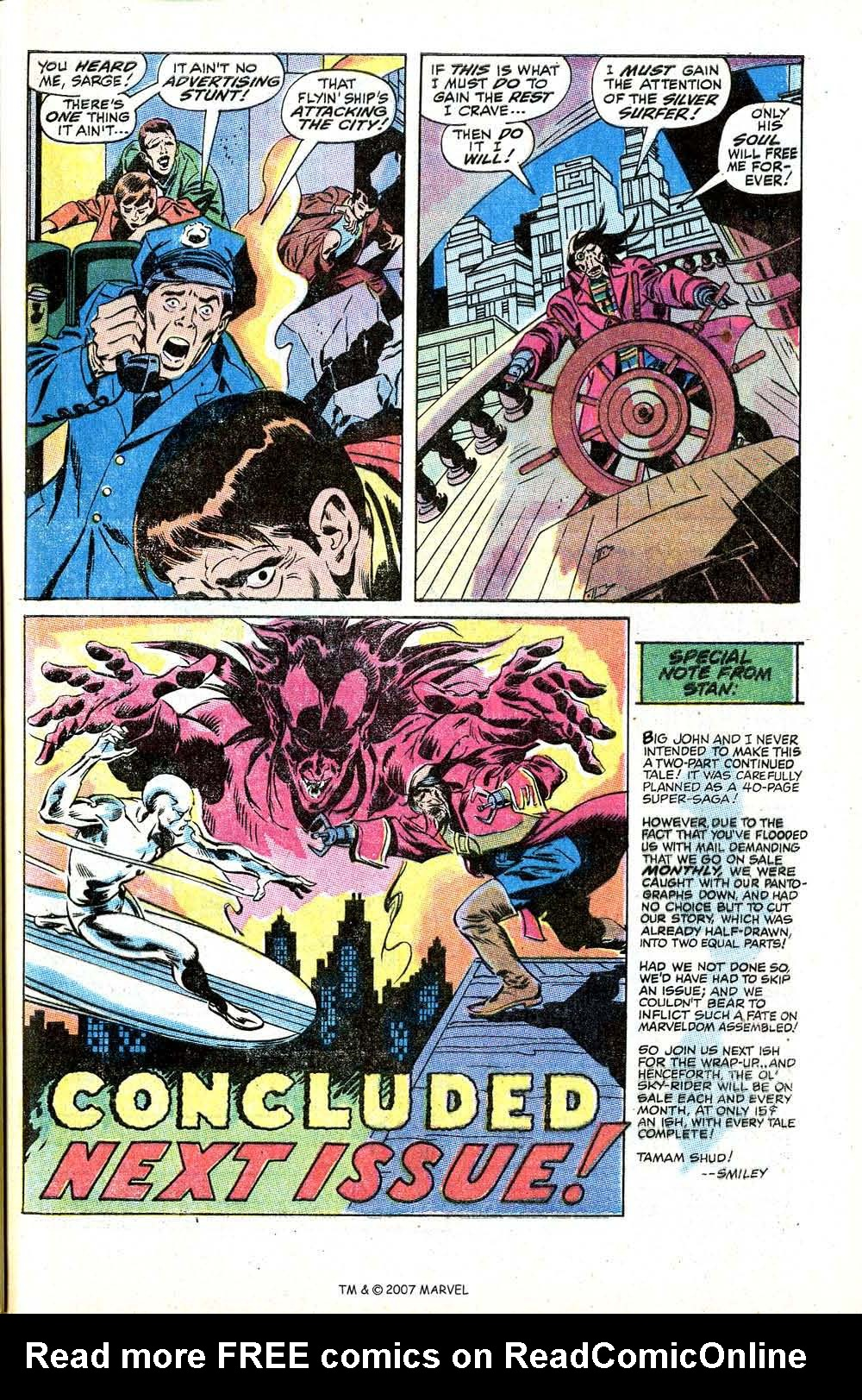 Read online Silver Surfer (1968) comic -  Issue #8 - 29