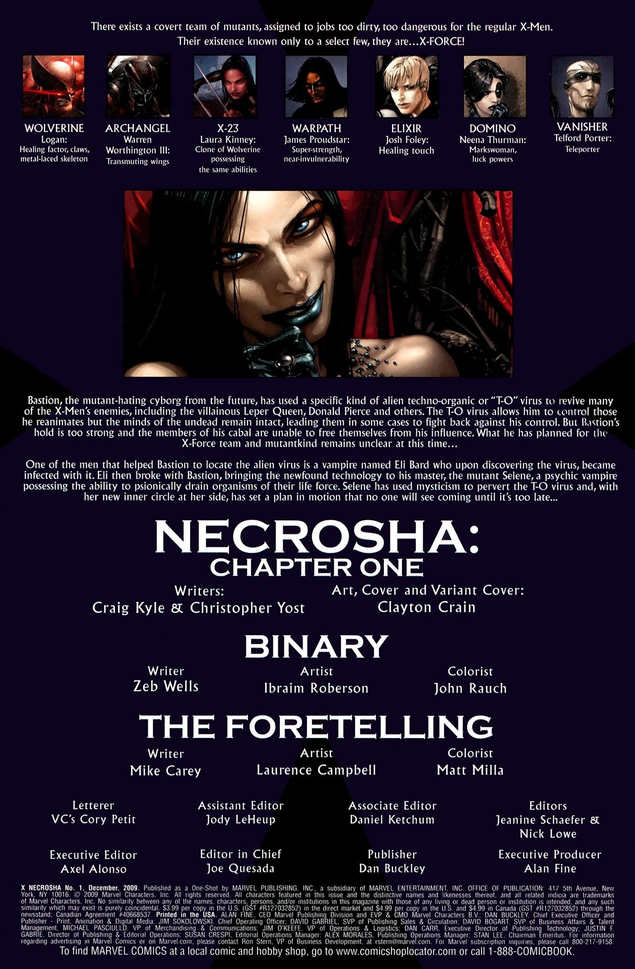 Read online X Necrosha comic -  Issue # Full - 4