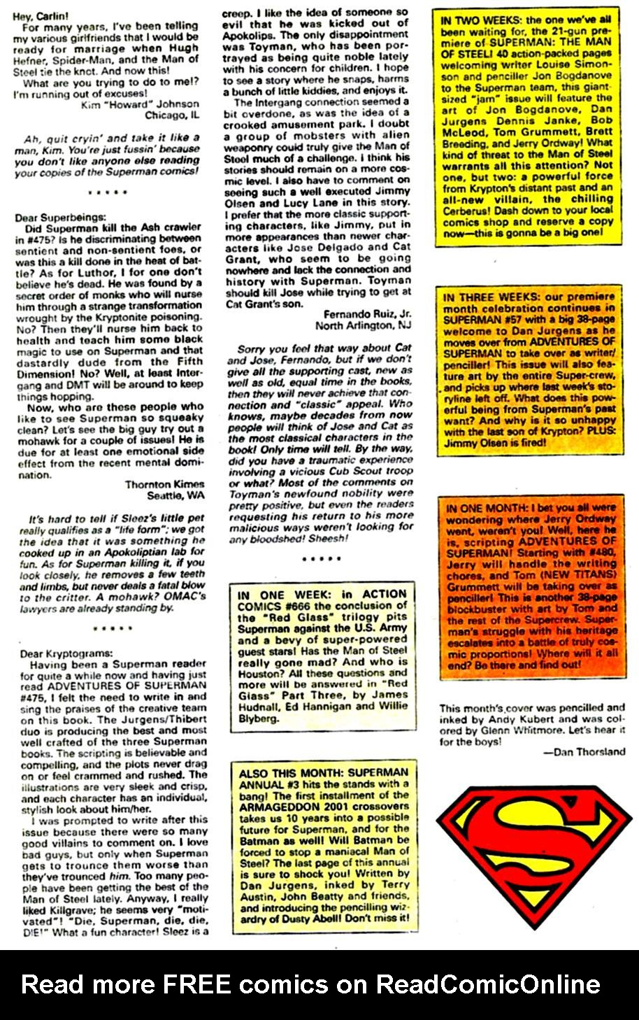 Read online Adventures of Superman (1987) comic -  Issue #479 - 24