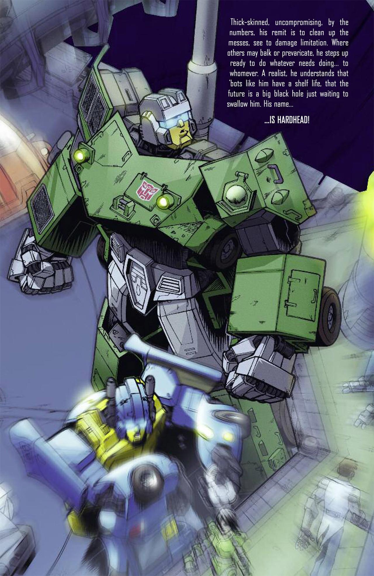 Read online Transformers Spotlight: Hardhead comic -  Issue # Full - 4