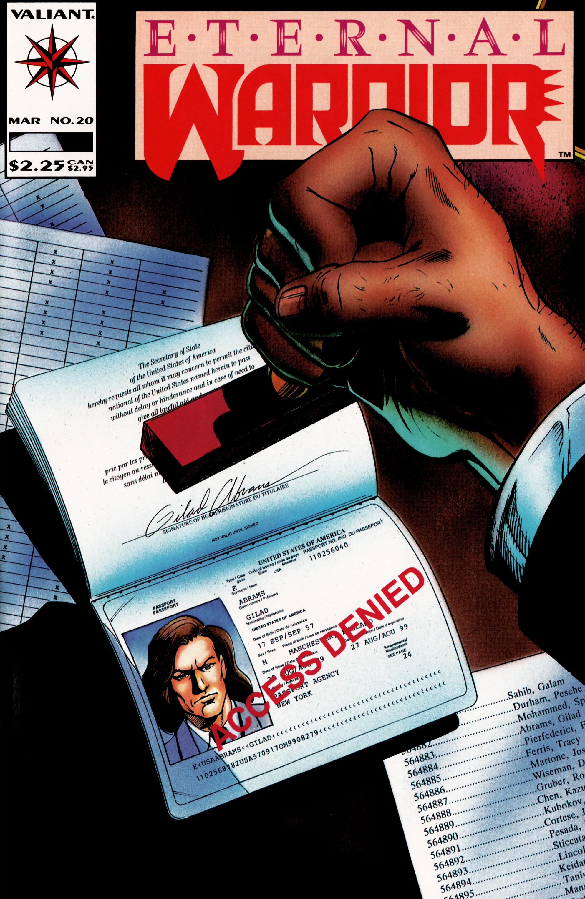 Read online Eternal Warrior (1992) comic -  Issue #20 - 1
