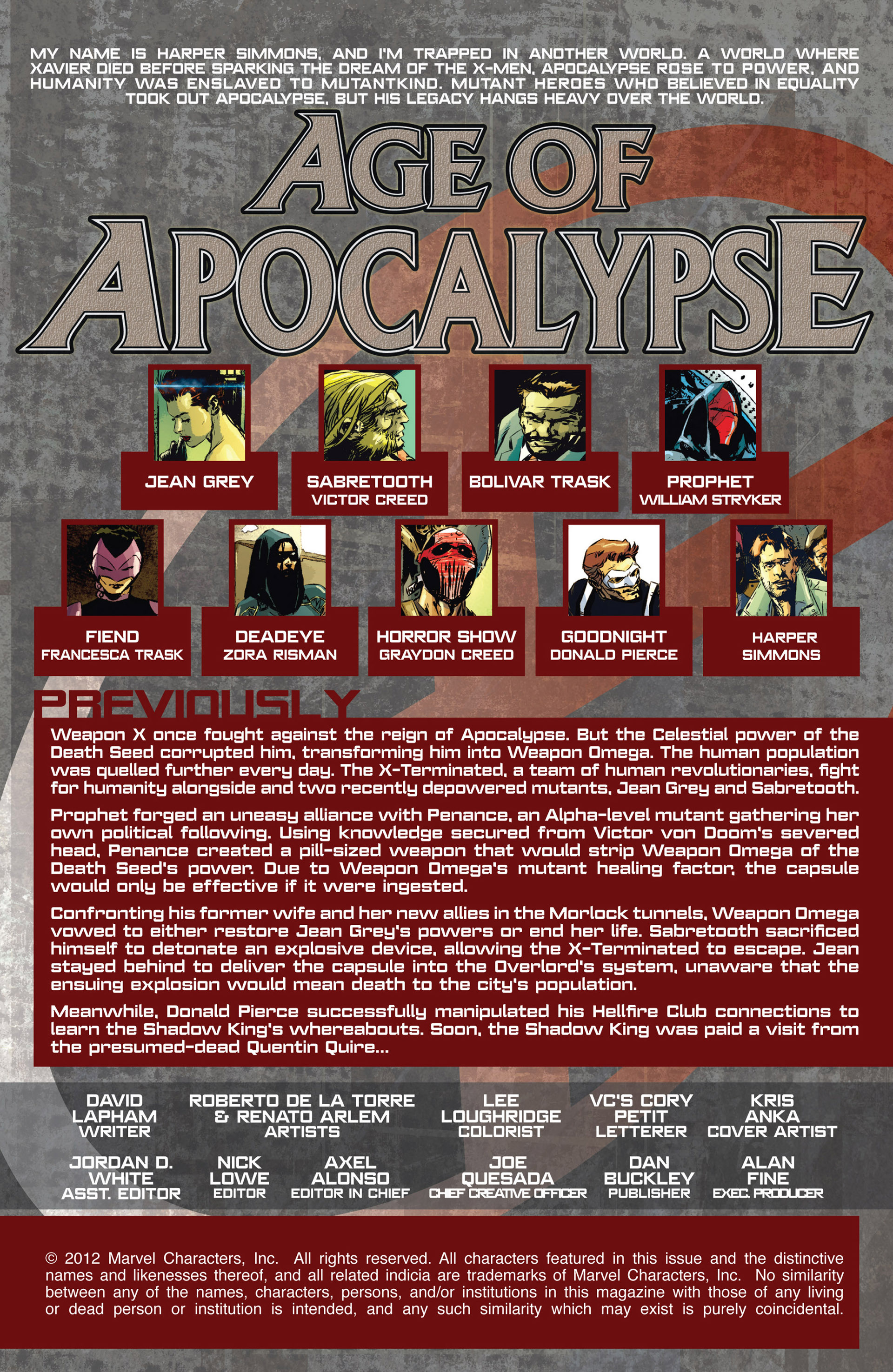 Read online Age of Apocalypse (2012) comic -  Issue #11 - 2