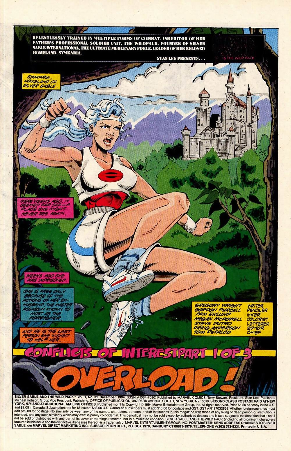 Read online Silver Sable and the Wild Pack comic -  Issue #31 - 2