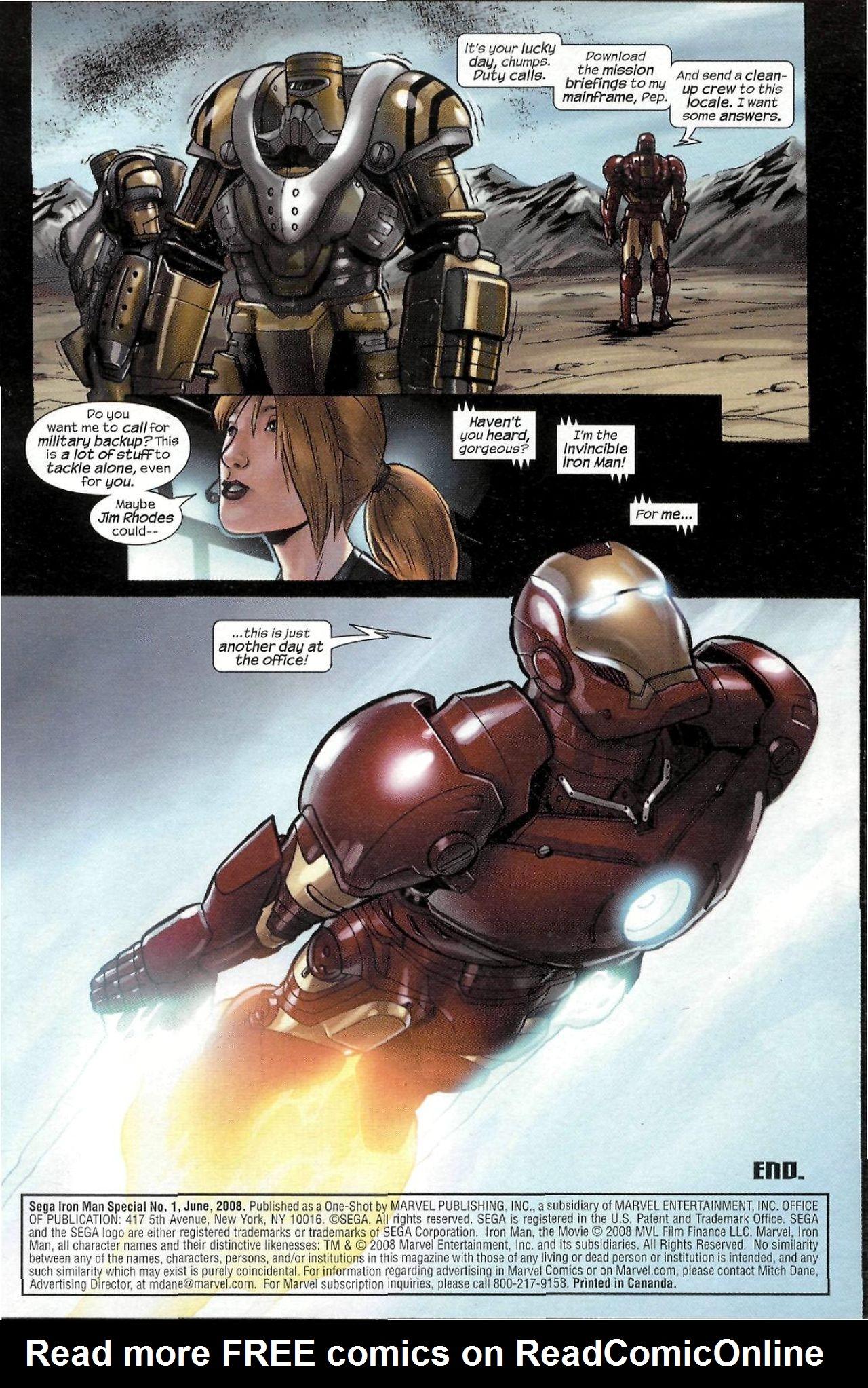 Read online Sega Iron Man Special comic -  Issue # Full - 18