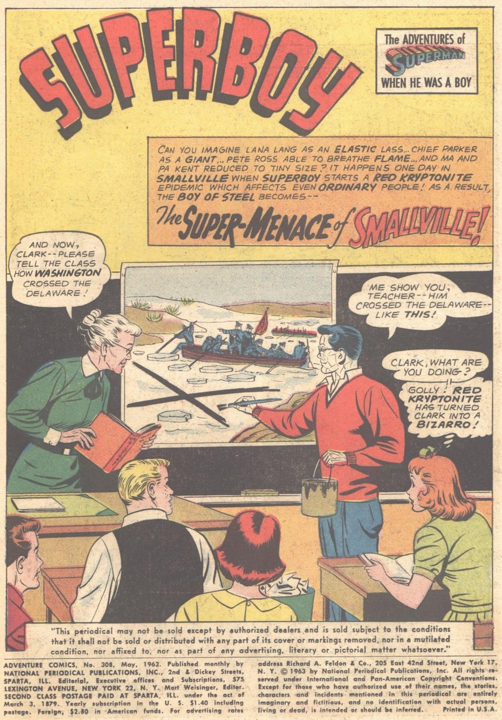 Read online Adventure Comics (1938) comic -  Issue #308 - 2