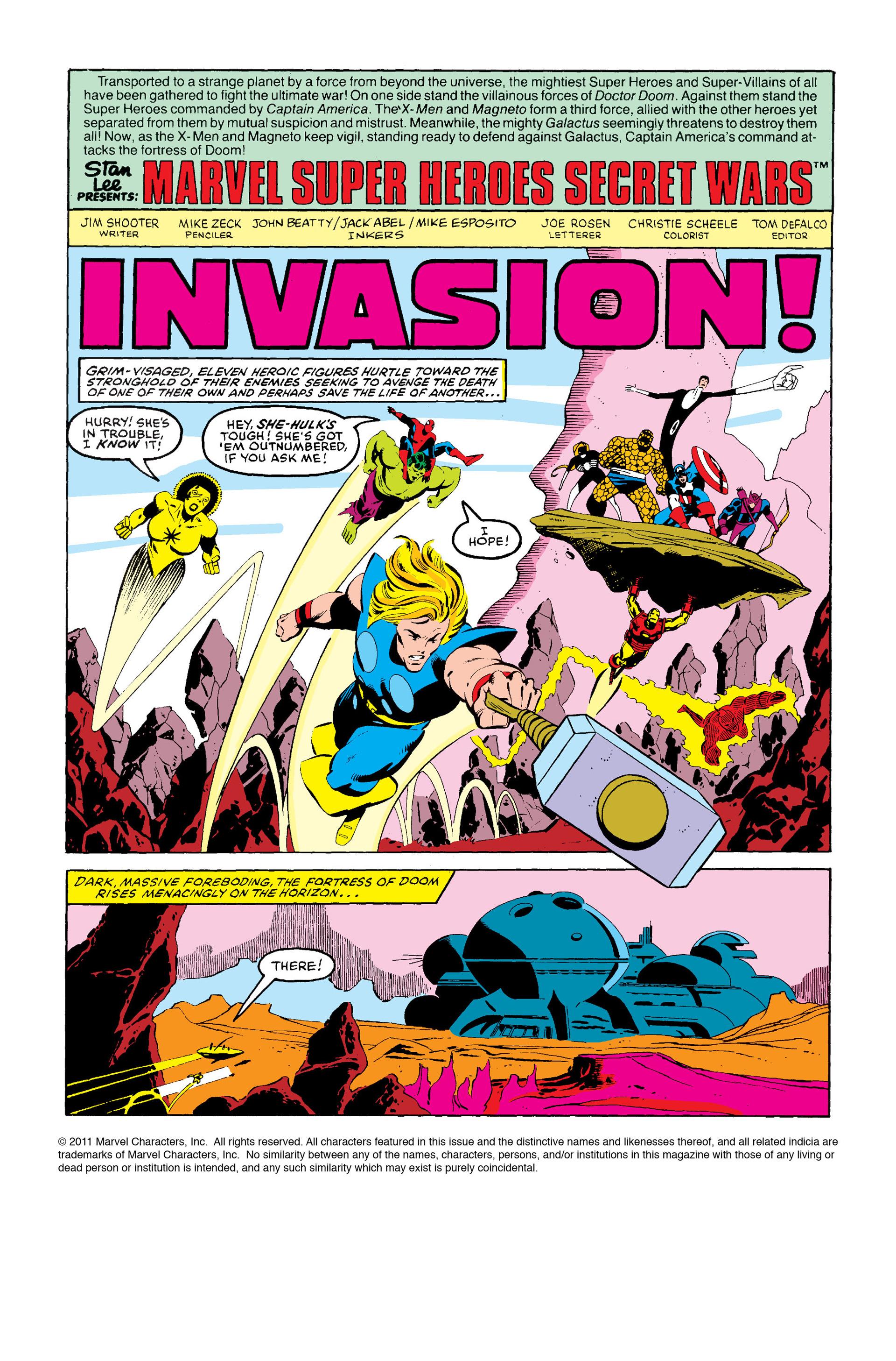 Read online Secret Wars (1985) comic -  Issue #8 - 2