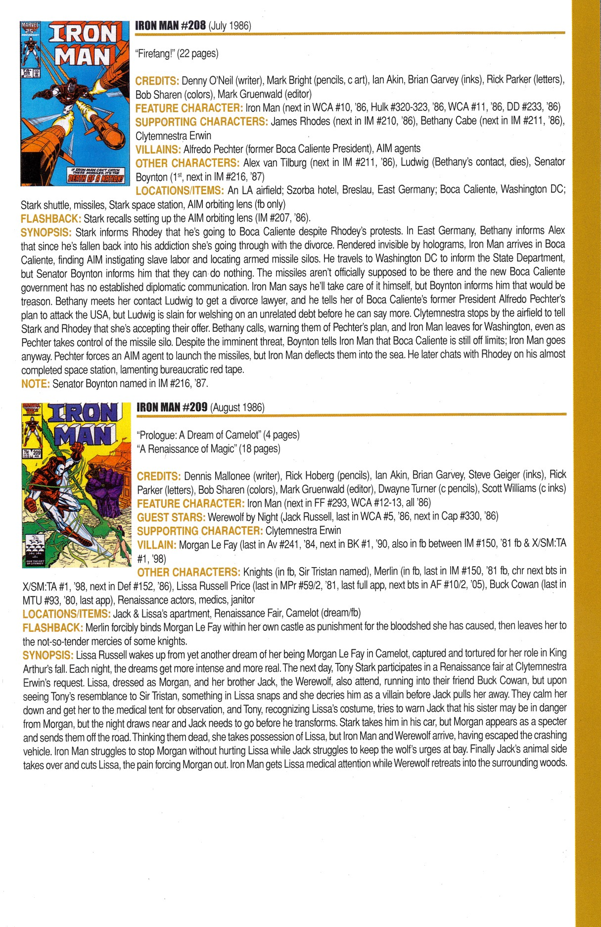 Read online Official Index to the Marvel Universe comic -  Issue #6 - 41