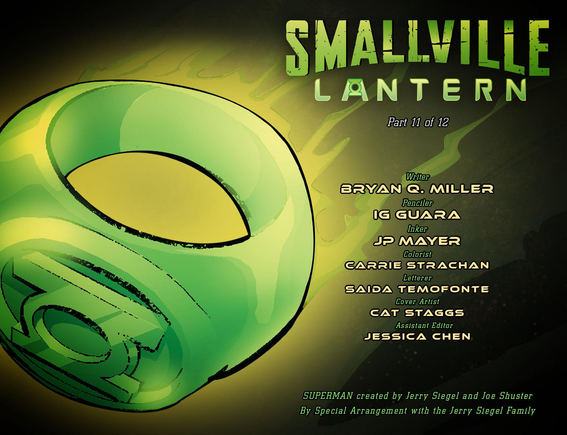 Read online Smallville: Lantern [I] comic -  Issue #11 - 2