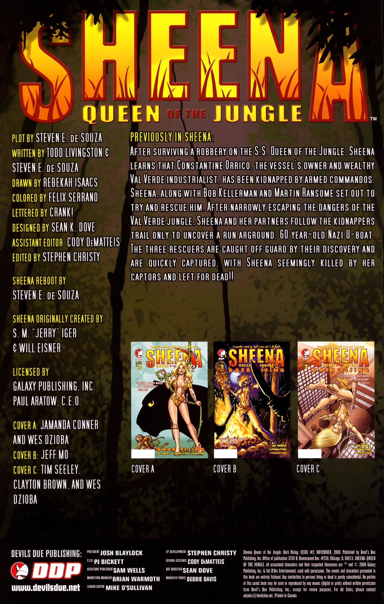 Read online Sheena Queen of the Jungle: Dark Rising comic -  Issue #2 - 2