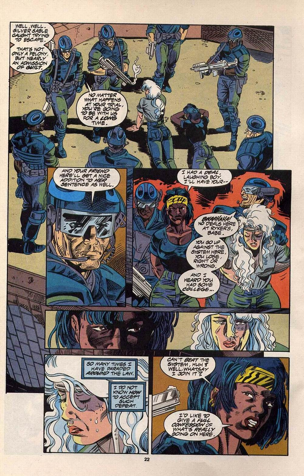Read online Silver Sable and the Wild Pack comic -  Issue #30 - 18