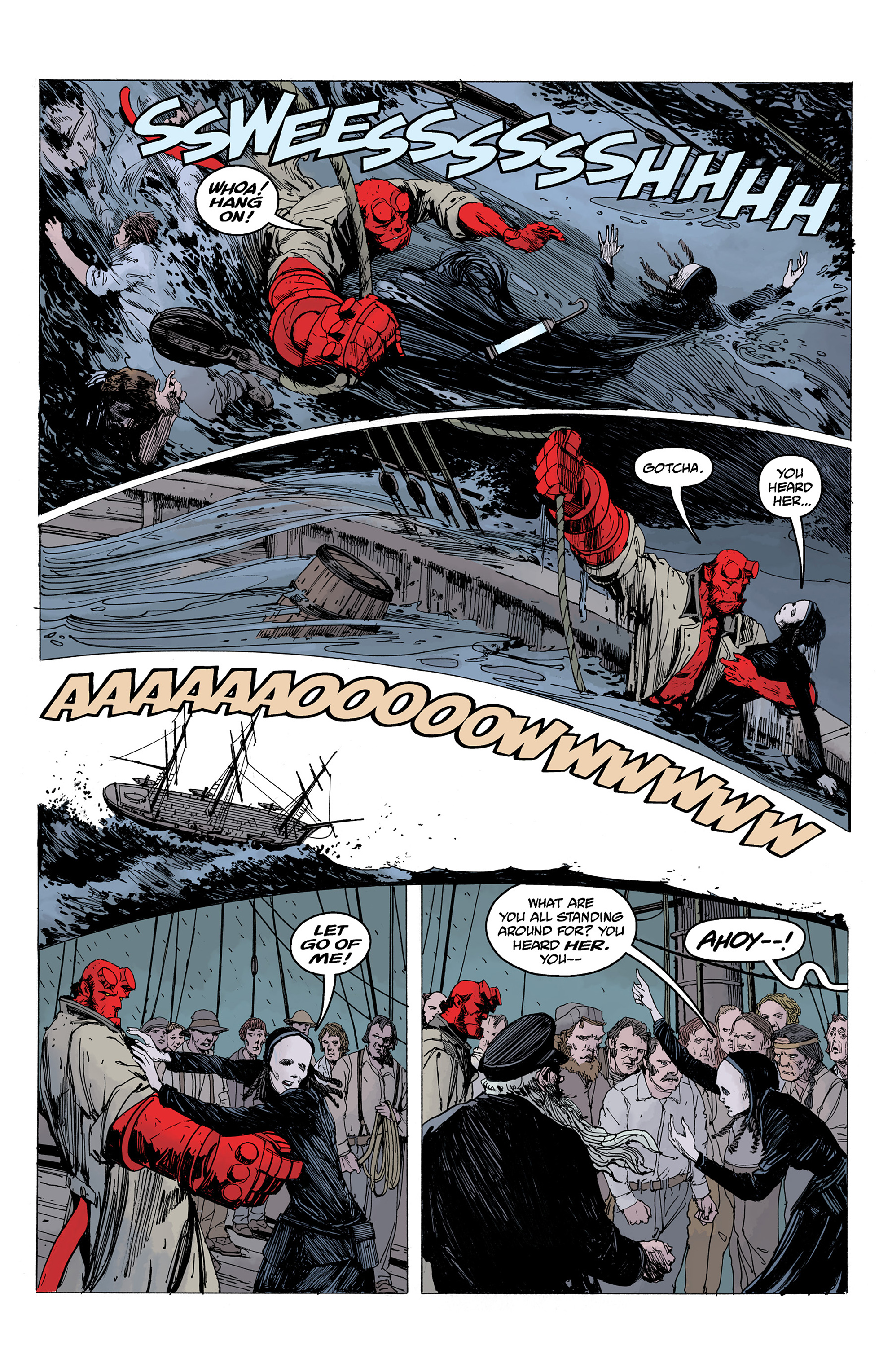 Read online Hellboy: Into the Silent Sea comic -  Issue # Full - 42