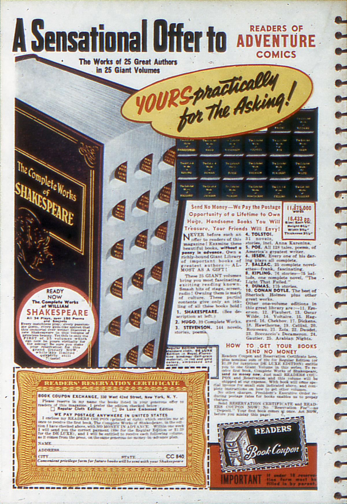 Read online Adventure Comics (1938) comic -  Issue #53 - 69