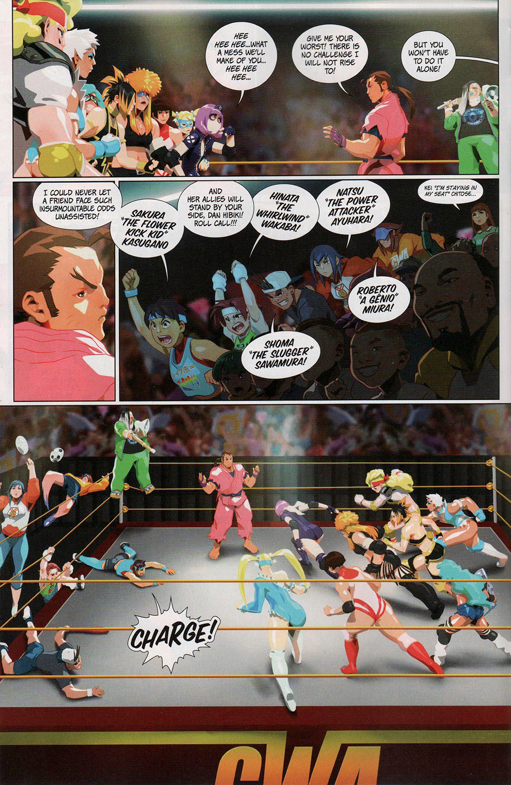 Read online Free Comic Book Day 2017 comic -  Issue # Street Fighter V - Wrestling Special - 12