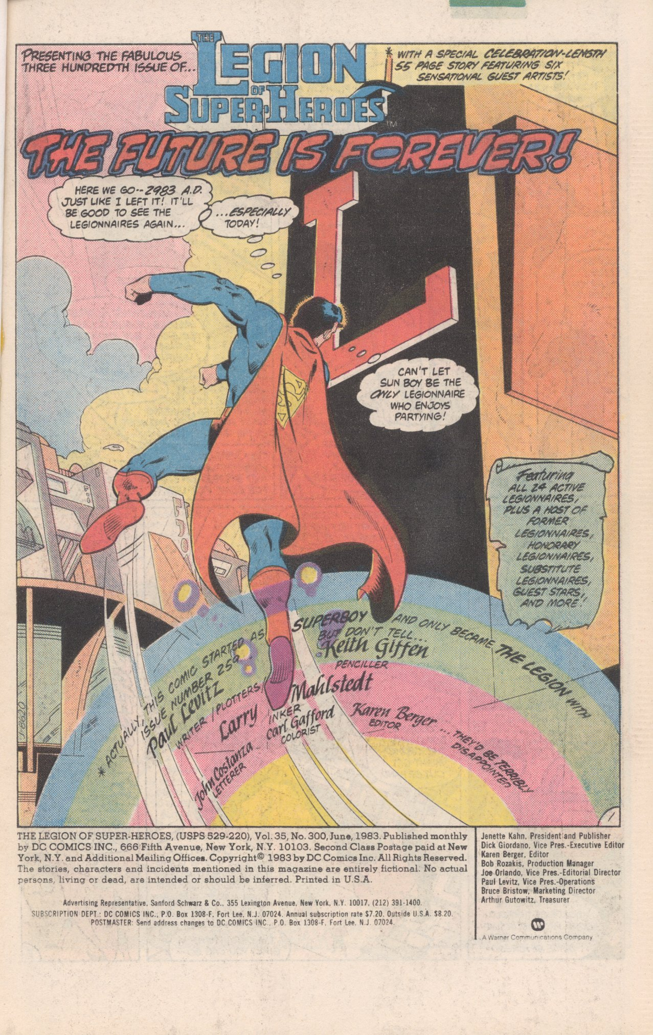 Legion of Super-Heroes (1980) 300 Page 1