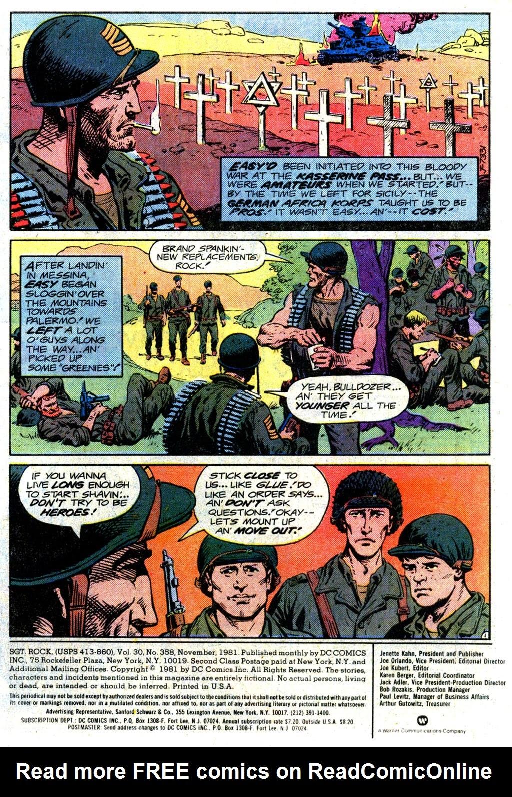 Read online Sgt. Rock comic -  Issue #358 - 2