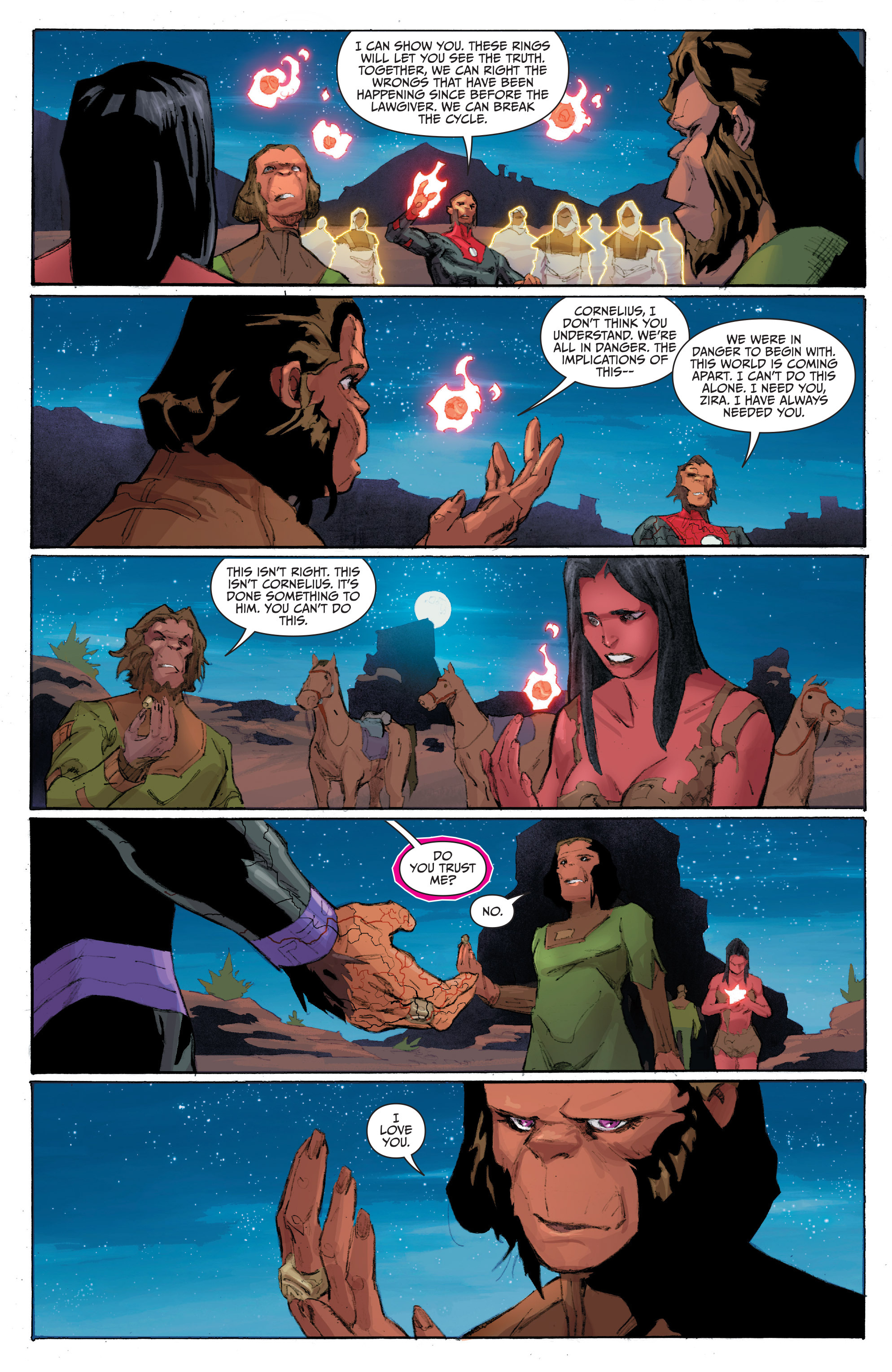Read online Planet of the Apes/Green Lantern comic -  Issue #4 - 19