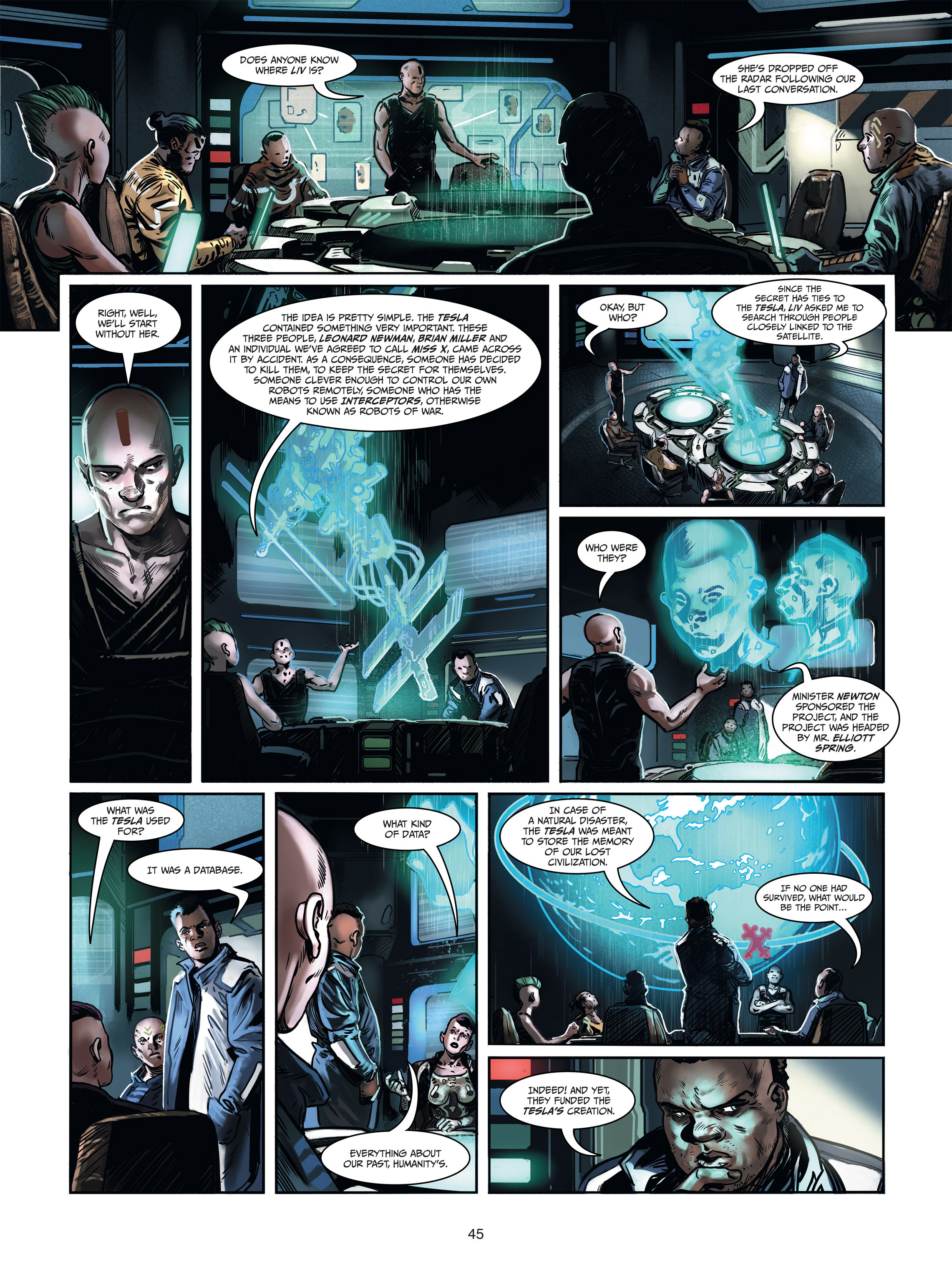 Read online Androïds comic -  Issue #1 - 43