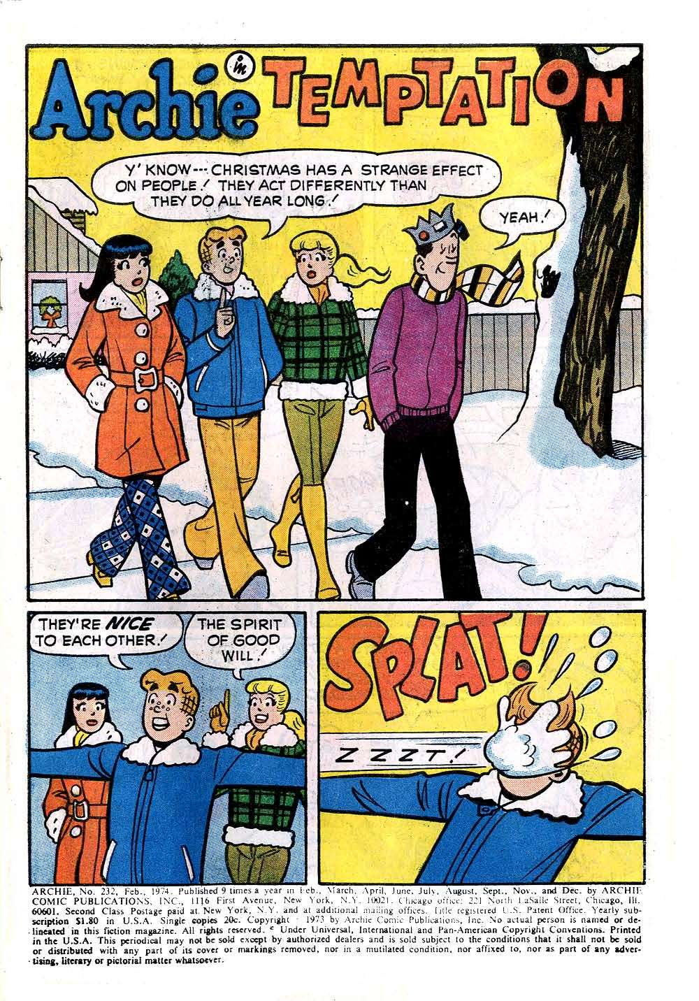 Read online Archie (1960) comic -  Issue #232 - 3