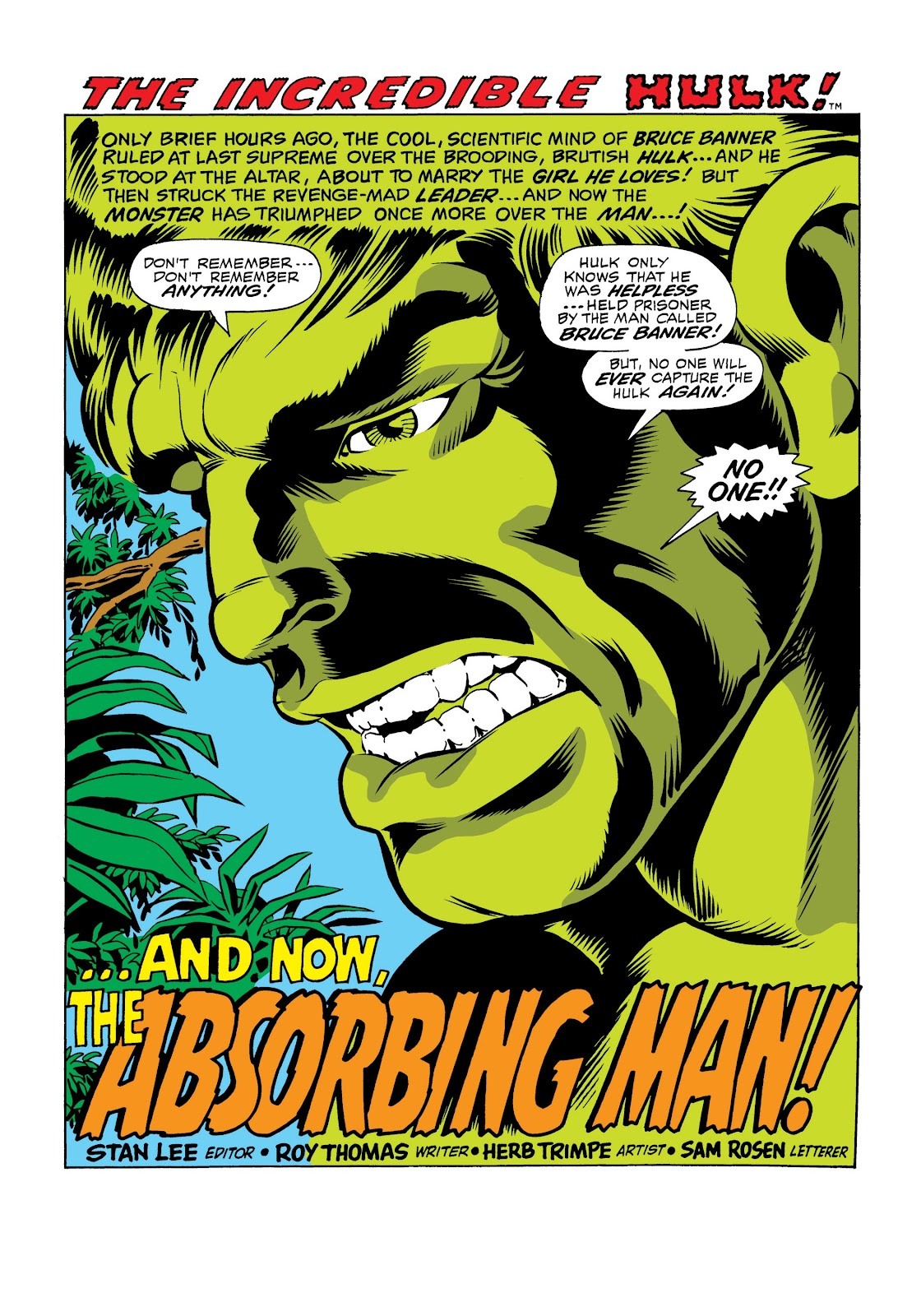 Read online Marvel Masterworks: The Incredible Hulk comic -  Issue # TPB 6 (Part 1) - 73