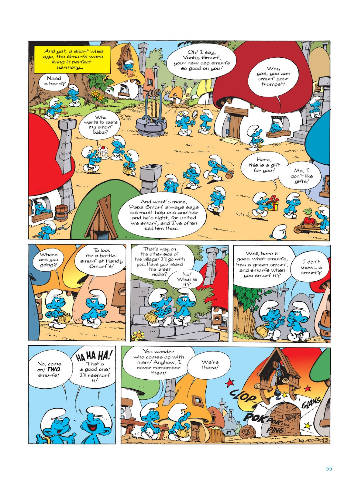 Read online The Smurfs comic -  Issue #11 - 55