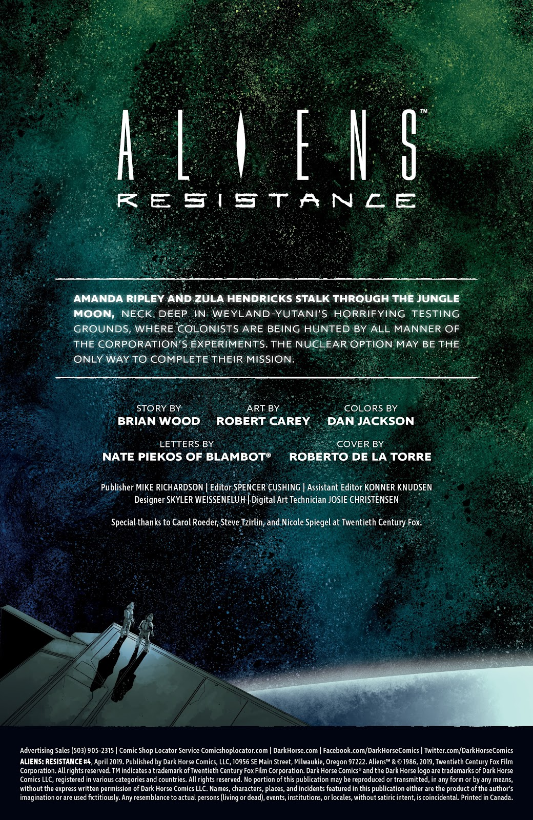 Read online Aliens: Resistance comic -  Issue #4 - 2
