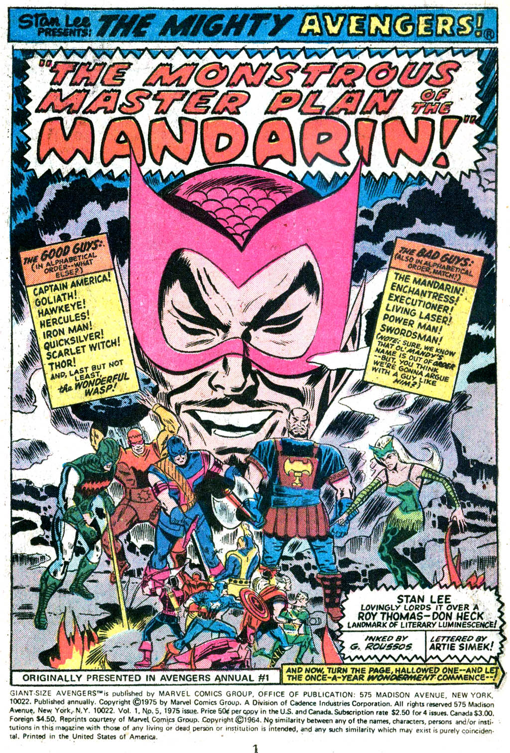 Giant-Size Avengers (1974) issue 5 - Page 2
