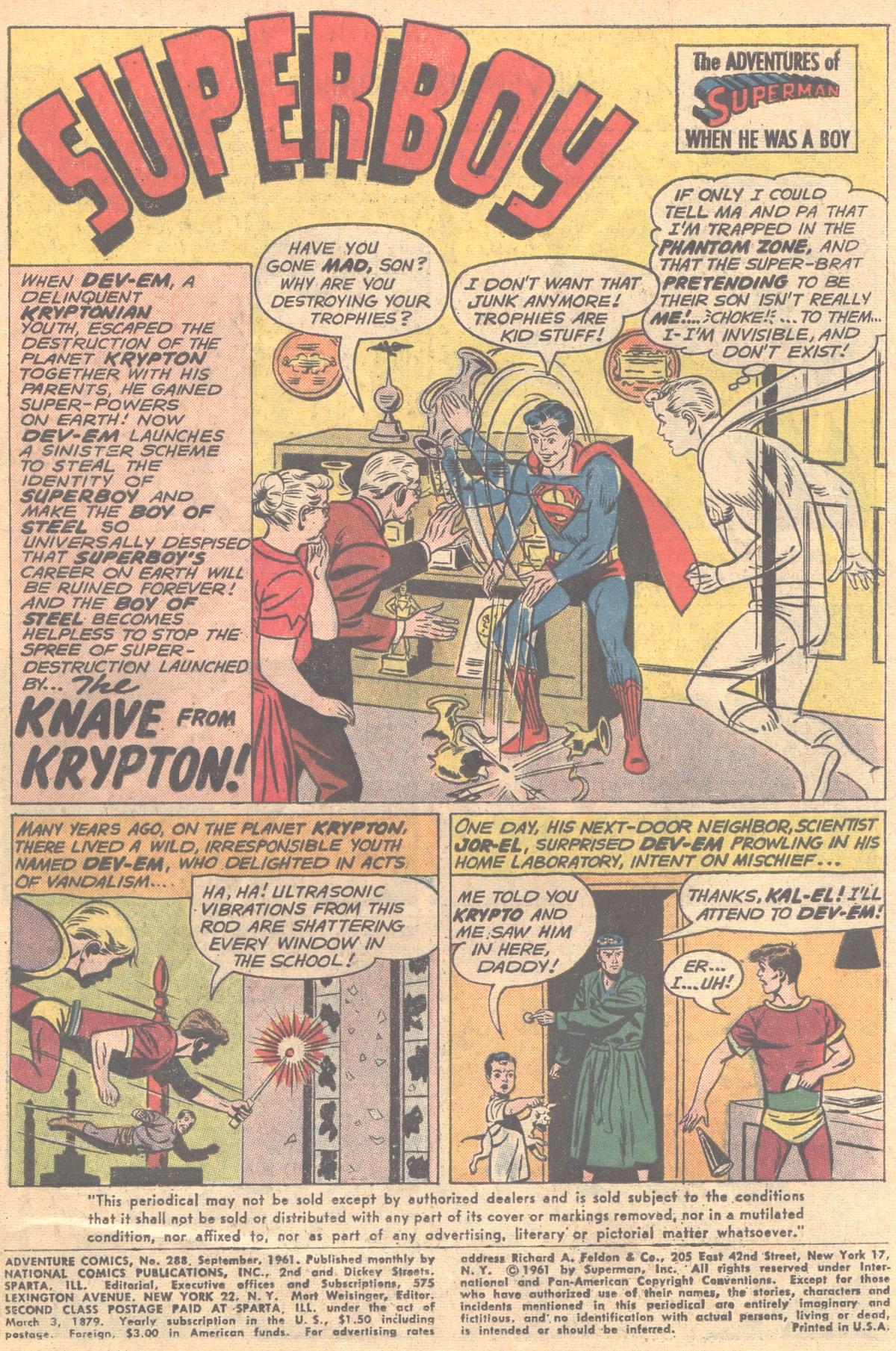 Read online Adventure Comics (1938) comic -  Issue #288 - 3