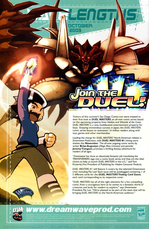 Read online Transformers Armada comic -  Issue #16 - 26