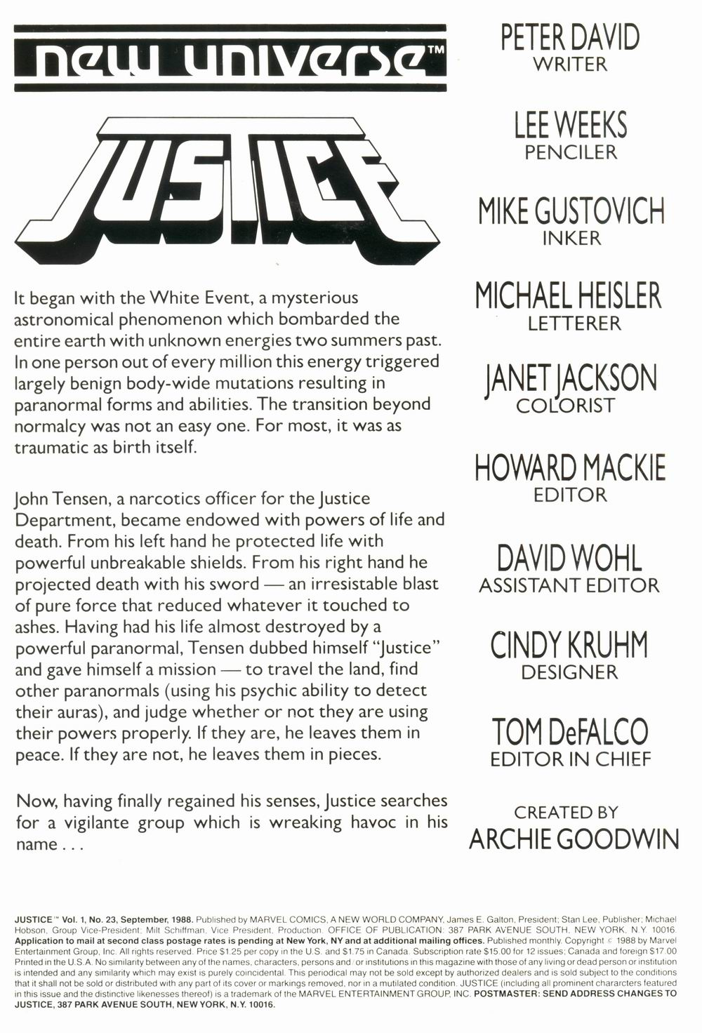Read online Justice (1986) comic -  Issue #23 - 2