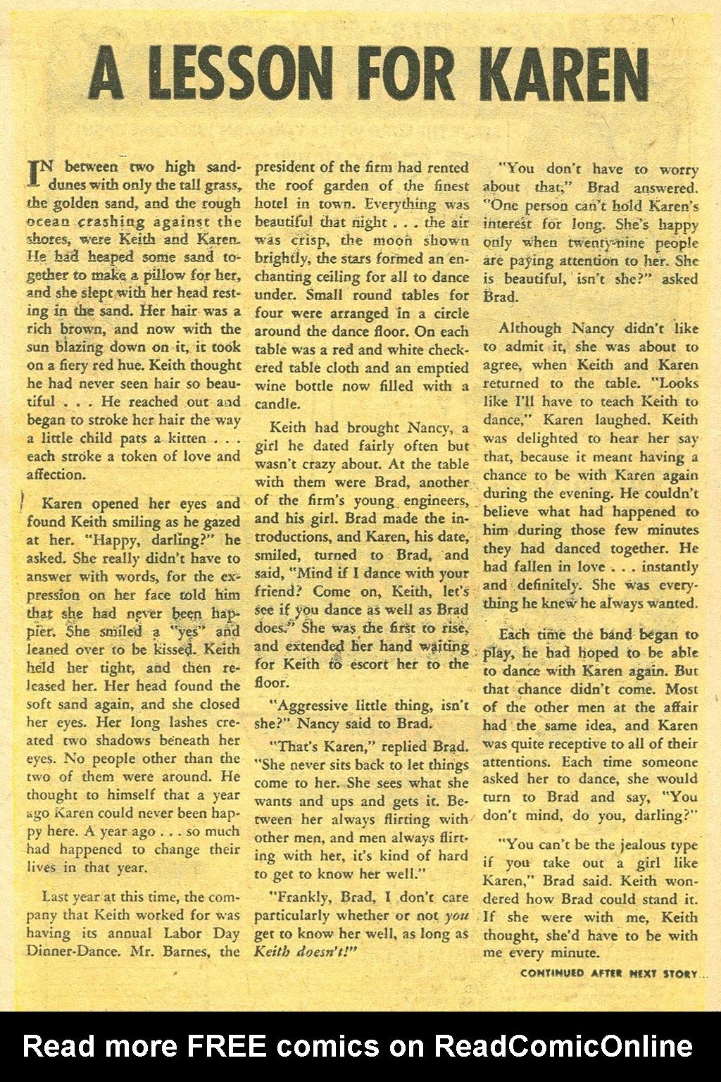 Love Romances (1949) issue 48 - Page 18