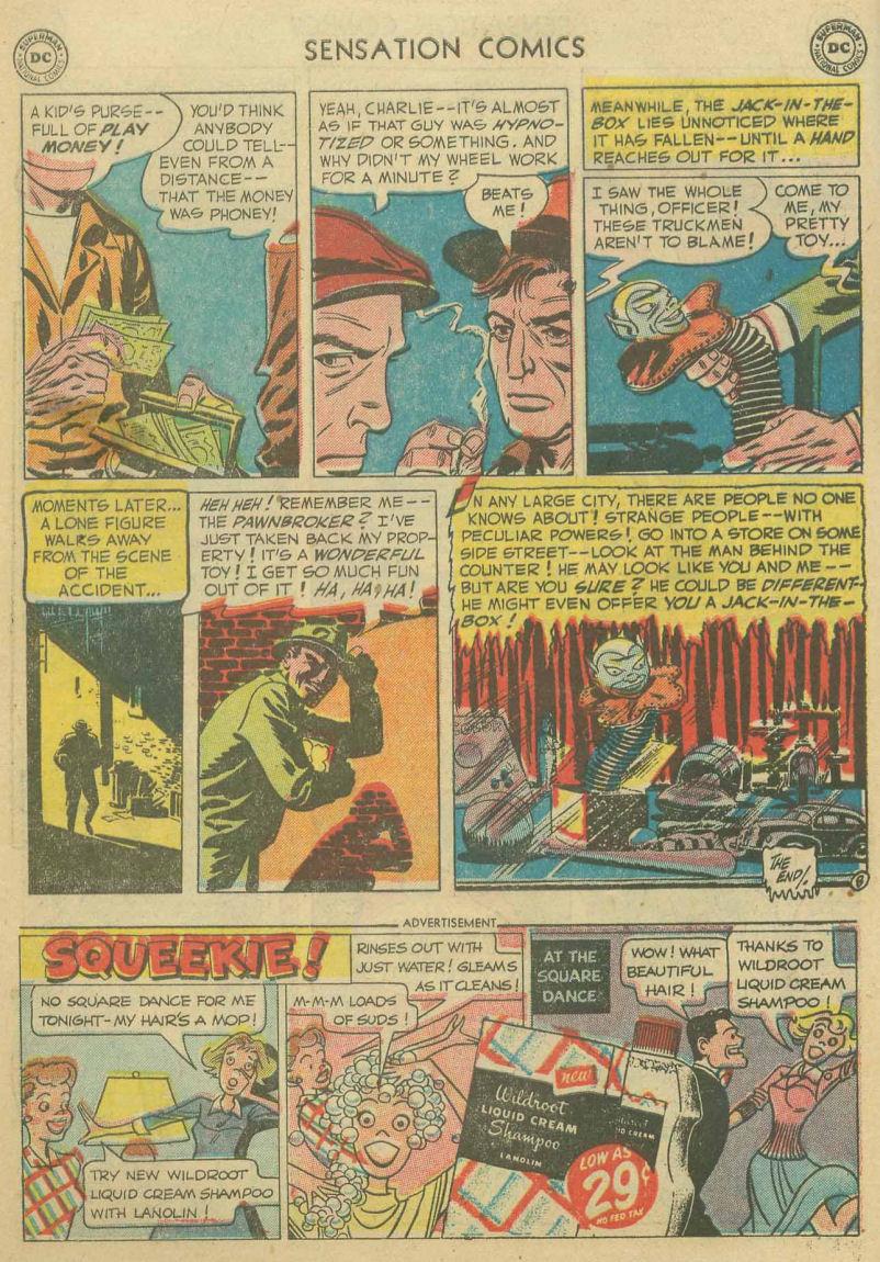 Read online Sensation (Mystery) Comics comic -  Issue #107 - 10