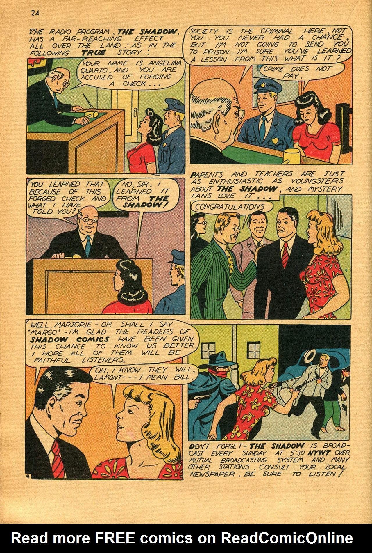 Read online Shadow Comics comic -  Issue #23 - 24
