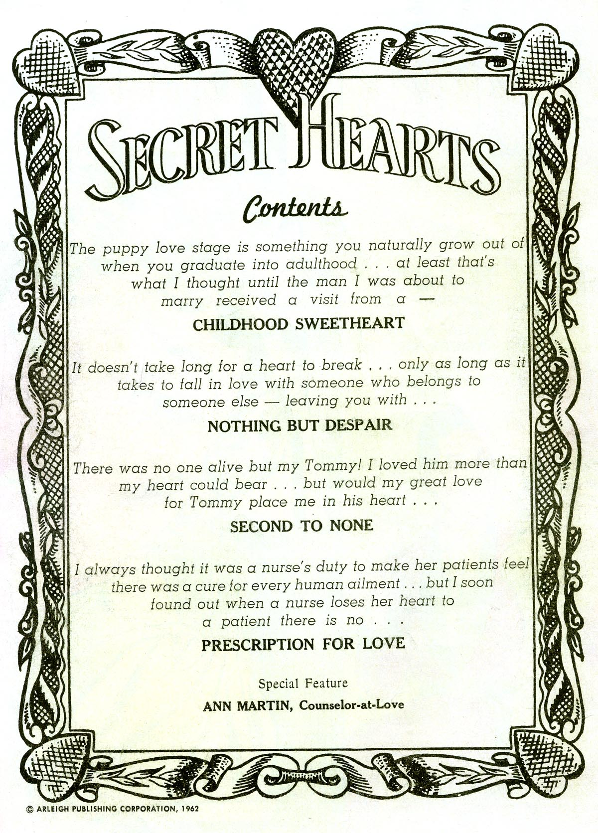 Read online Secret Hearts comic -  Issue #81 - 2