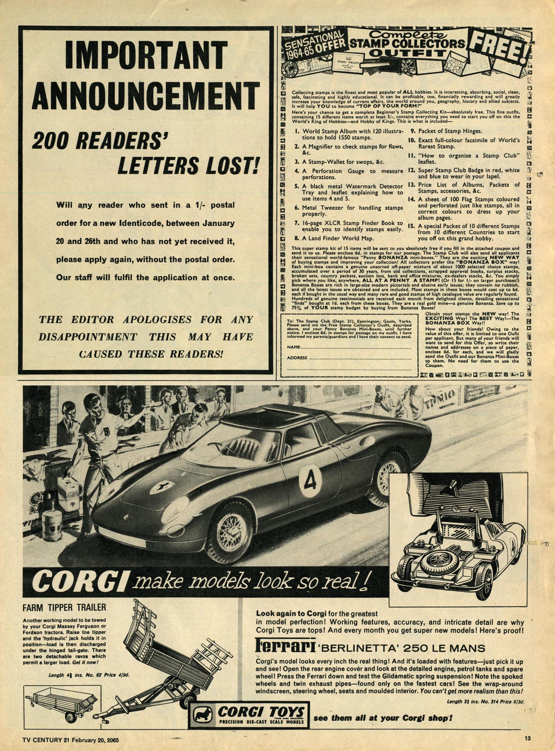 Read online TV Century 21 (TV 21) comic -  Issue #5 - 12