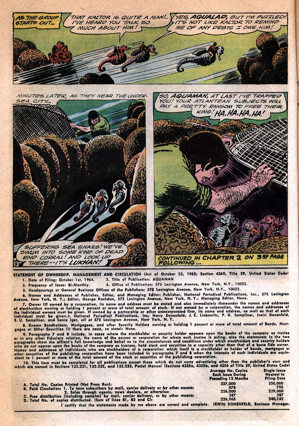 Read online Aquaman (1962) comic -  Issue #20 - 12