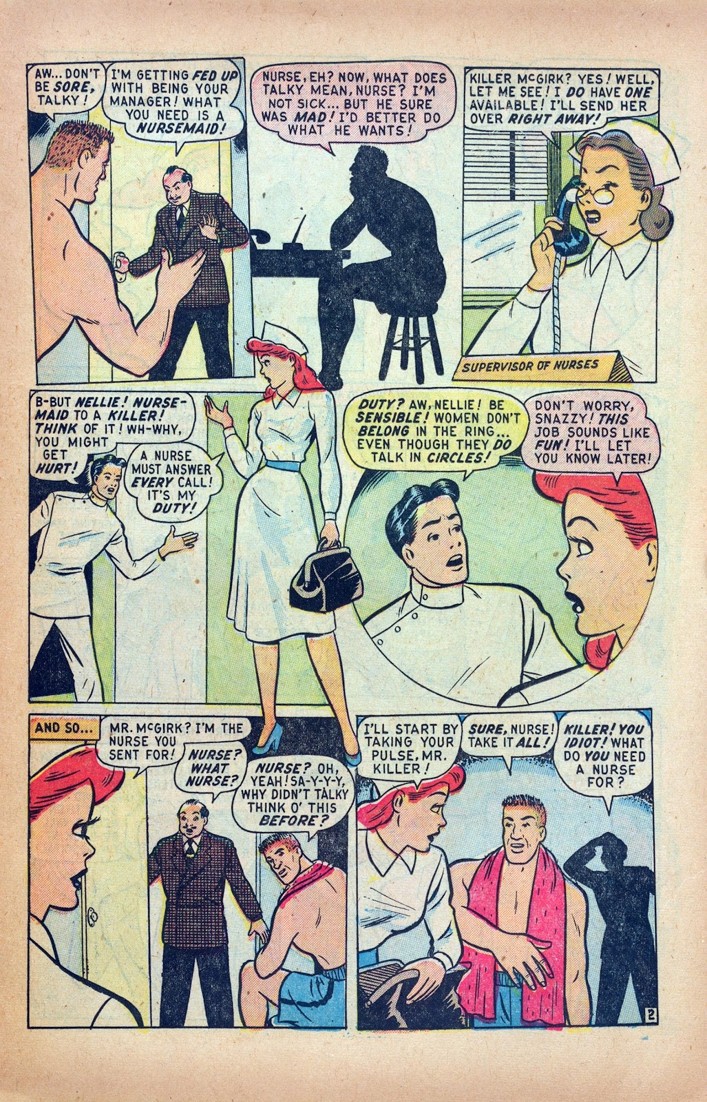 Read online Nellie The Nurse (1945) comic -  Issue #24 - 11