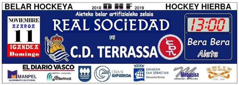 2018-11-11 Real Sociedad - C.D. Terrassa. Faldón publicado en Pág. 76 del DV del sábado 10