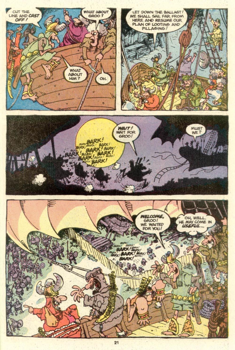 Read online Sergio Aragonés Groo the Wanderer comic -  Issue #16 - 22