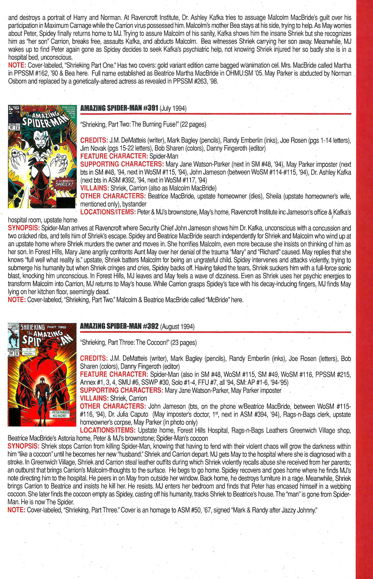 Read online Official Index to the Marvel Universe comic -  Issue #9 - 17