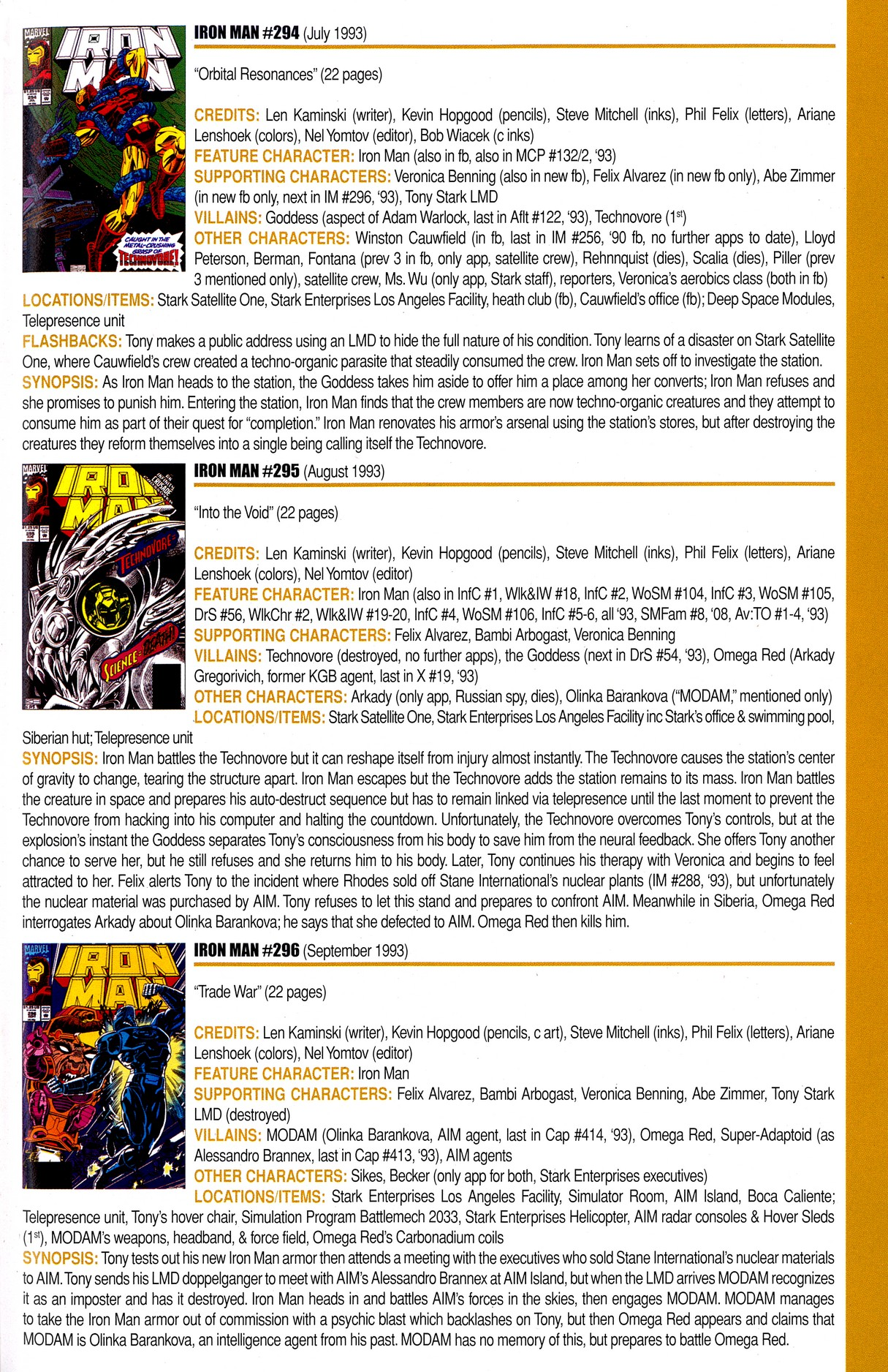 Read online Official Index to the Marvel Universe comic -  Issue #8 - 43